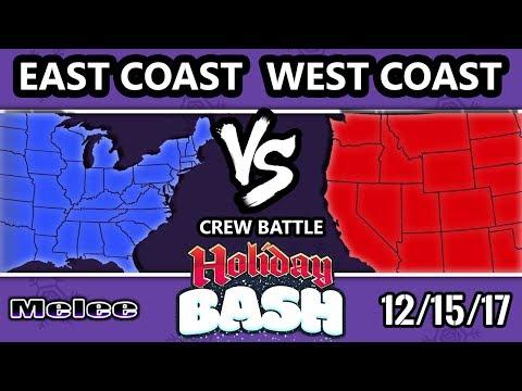 Holiday Bash SSBM - East Coast Vs West Coast - Melee Crews