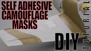 DIY self adhesive camouflage masks - plastic scale modeling tutorial