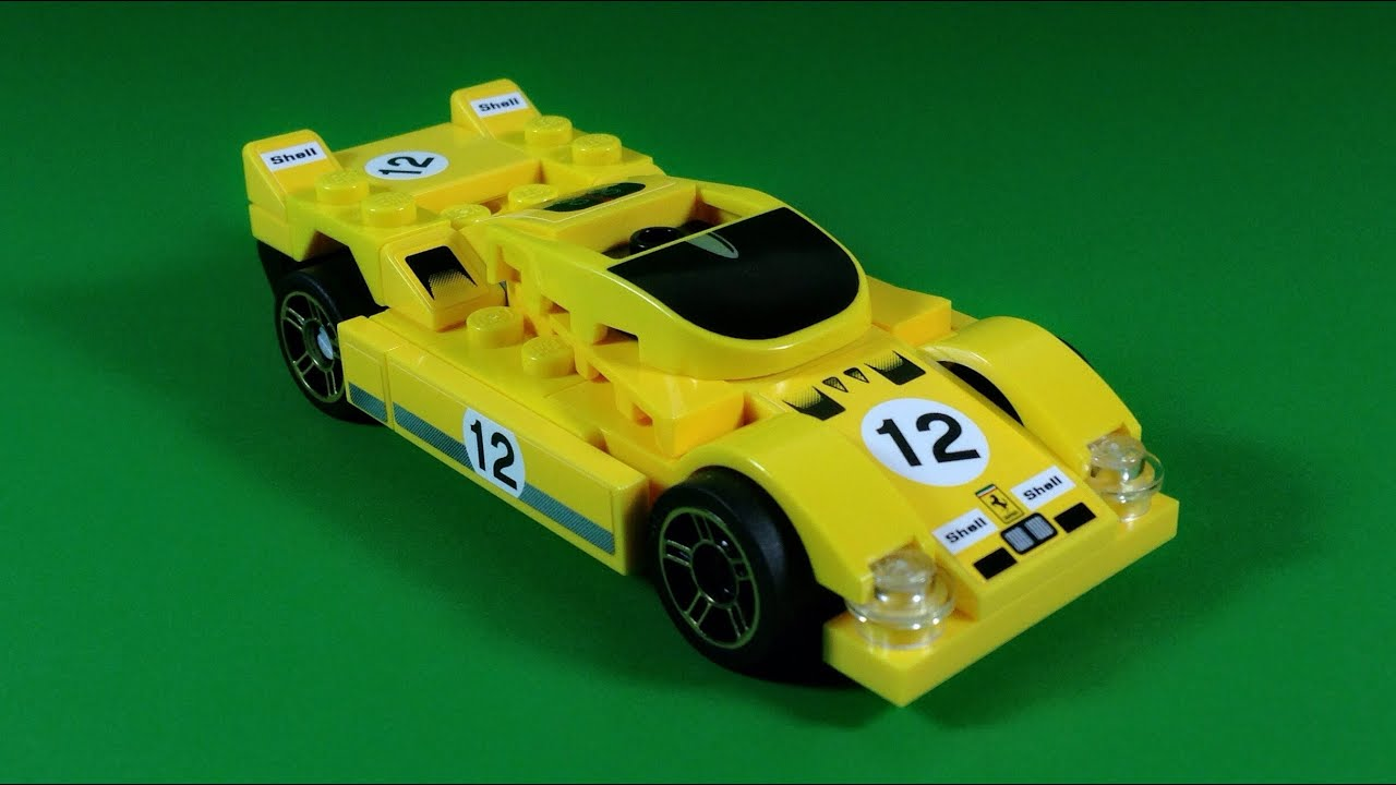 Shell Lego Ferrari 512 S Car Building Instructions Set