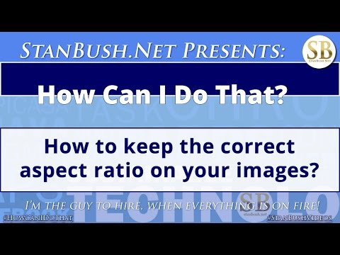How To Change Your Image Sizes And Keep The Aspect Ratio Correct
