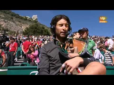 Rafael Nadal vs Novak Djokovic entrevista post-partido - Montecarlo 2012 FINAL