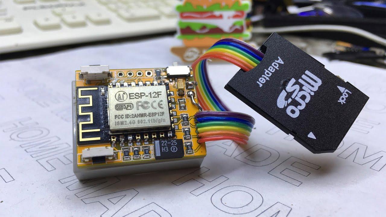 Как сделать WiFi MicroSD. Сетевой диск из флешки. JLCPCB.COM