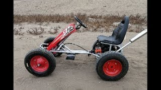 transformation chachicard into go kart at home