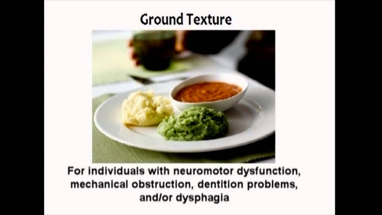 Managing Dysphagia – Diet Textures - YouTube