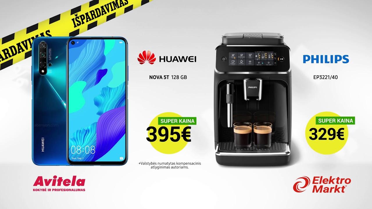 DIDYSIS METŲ IŠPARDAVIMAS! Huawei telefonas ir Philips kavos aparatas SUPER KAINOMIS!