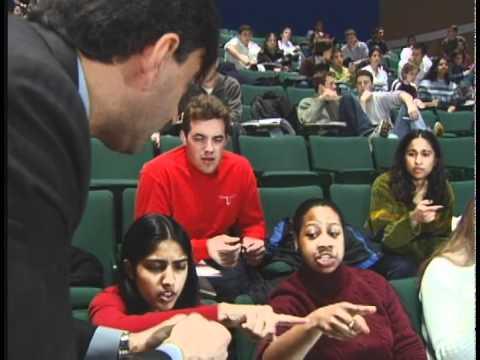 Eric Mazur shows interactive teaching