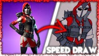 Drawing The Ace Starter Pack *NEW SKIN* | Fortnite Speed Art