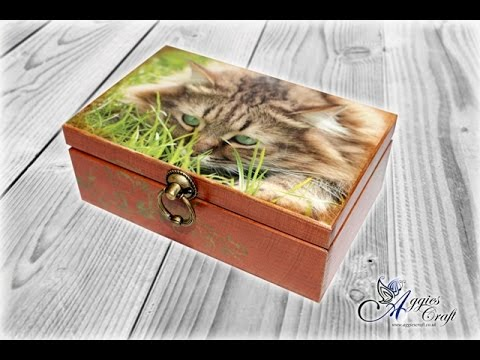 Decoupage Tutorial - Wooden Box With Cat
