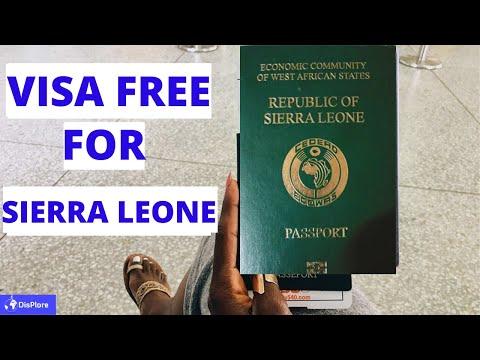 Visa Free Countries For Sierra Leonean  passport Holders