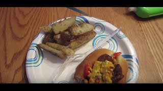 Delicious Italian Sausage With Cheesy Pepper Sauce - Baby Steps 8-5-15