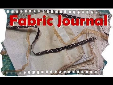 How to make a Fabric Journal, simple design DIY Cloth Book . Ayala Art