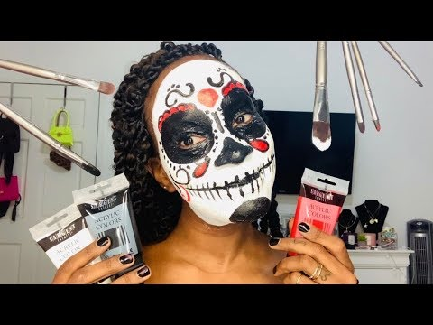 I DID MY OWN HALLOWEEN MAKEUP | TANAANIA thumbnail