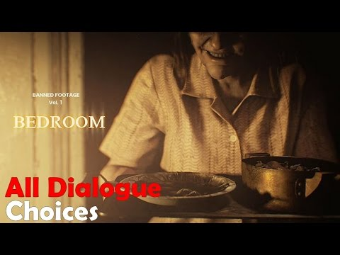 """Resident Evil 7 Biohazard Banned Footage Vol. 1 DLC """"Bedroom"""" All Dialogue Choices 