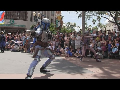 Download Youtube: 2015 Star Wars Weekends Celebrity motorcade parade at Disney's Hollywood Studios - Opening Day