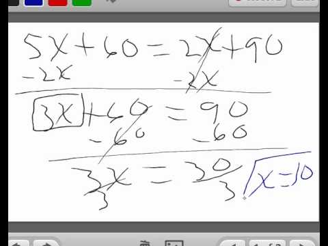 Solving linear equation with variable on both sides of