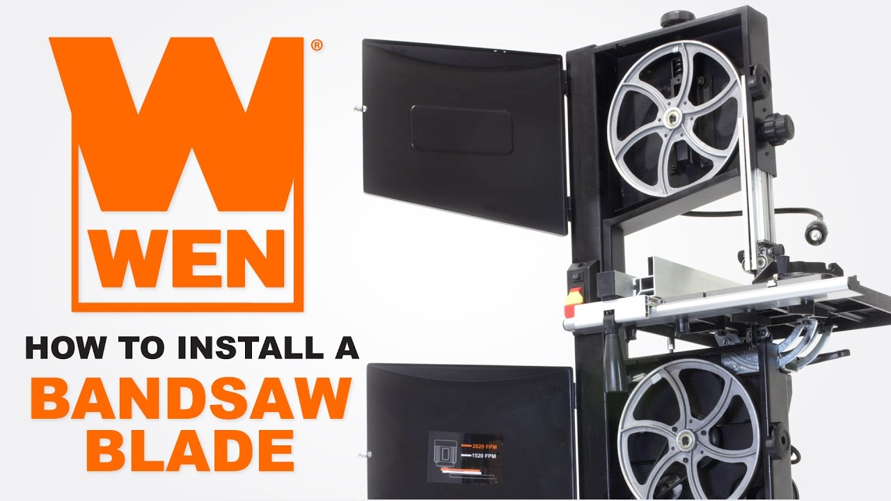 How to install and tension a wen bandsaw blade youtube how to install and tension a wen bandsaw blade greentooth