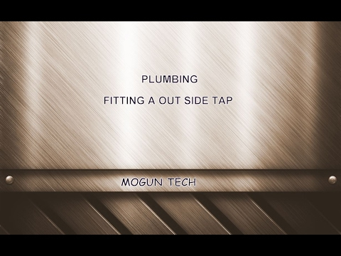 Plumbing-Fitting An Outside Tap