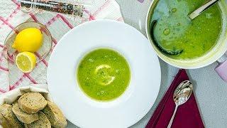 Supe me bizele dhe mente - Fresh Pea and Mint soup