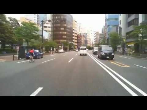 Driving in Tokyo, Japan 2013 around Iidabashi