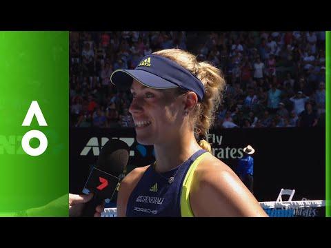 Angelique Kerber on court interview (4R) | Australian Open 2018