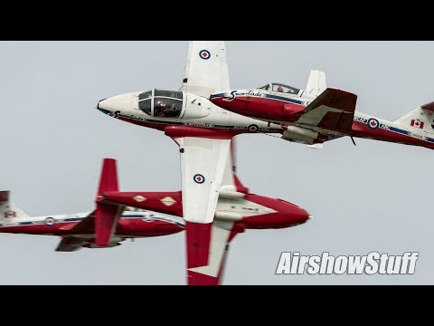 Canadian Snowbirds Practice - Comms/No Music - Airshow Londo