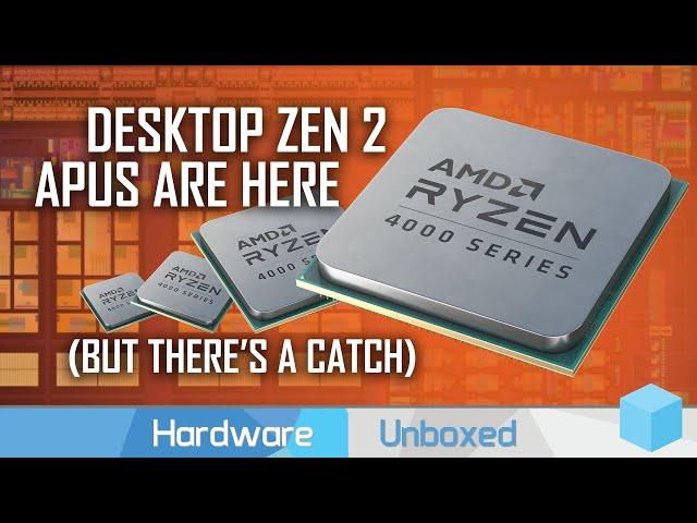 AMD Announces Ryzen 4000 Desktop APUs: 4700G, 4600G and 4300G with Zen 2