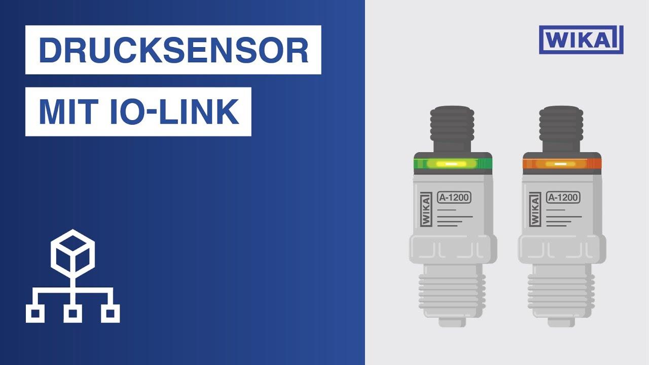 Drucksensor mit IO-Link, PNP- oder NPN-Schaltausgang | Typ A-1200
