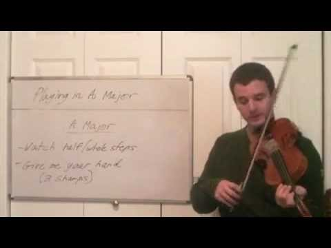 Playing in A Major Key - Violin Lessons in the Key of A