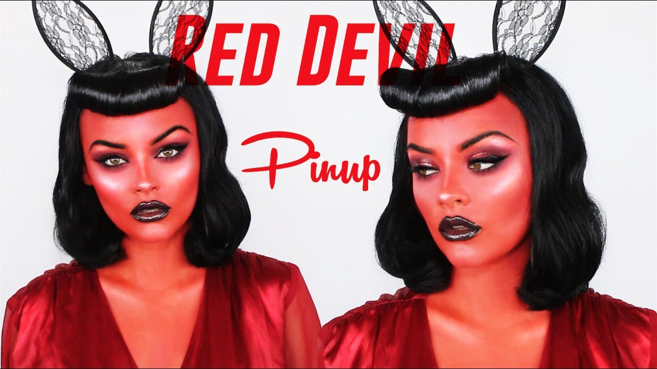 red devil pinup makeup tutorial youtube