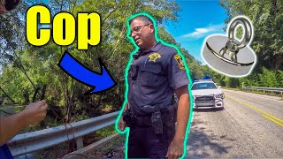The Cops Thought We Were Going To Jump! (Magnet Fishing)