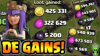Dark Elixir Gains! - TH9 Loonion Farming + Upgrade Discussion - Clash of Clans - Lets Play TH9 ep16