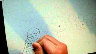 how to draw a graffiti
