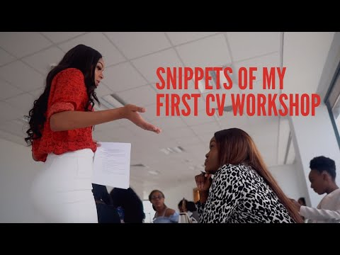 CV Workshop for Finding a Job In Lagos - Snippets