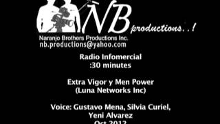Extra Vigor y Men power:Audio Demo clip:Radio Infomercial Sept 2012 ..mov