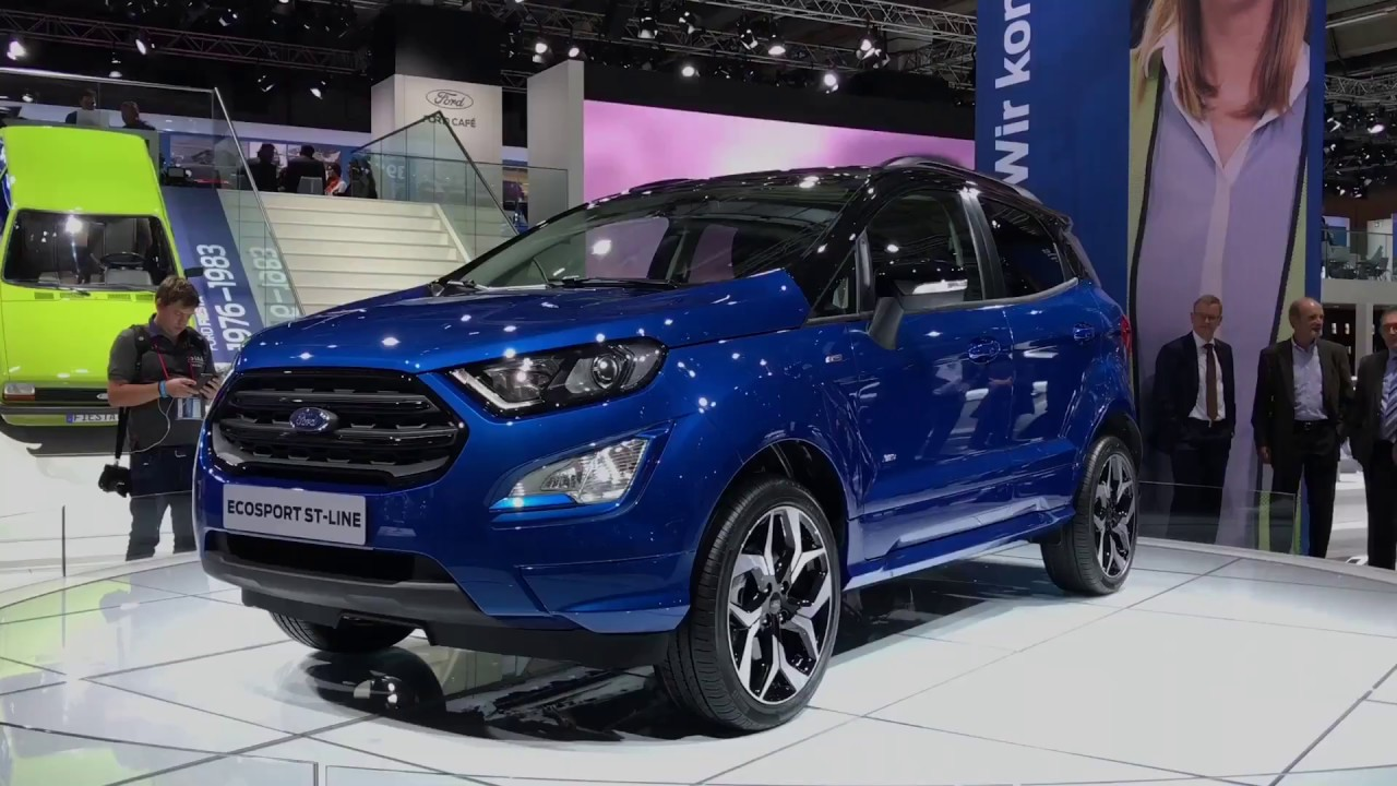 2018 ford ecosport st line facelift walkaround at frankfurt motor show 2017 youtube. Black Bedroom Furniture Sets. Home Design Ideas
