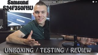 Samsung S24F350FHU monitor - unboxing, testing and review