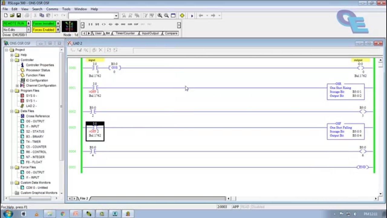 Rslogix 500tutorial  03 Ons  Osr  U0026 Osf Bits Simulation