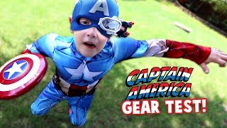 Captain America Gear Test! Avengers Movie Toys & Weapons for Kids Review by KIDCITY