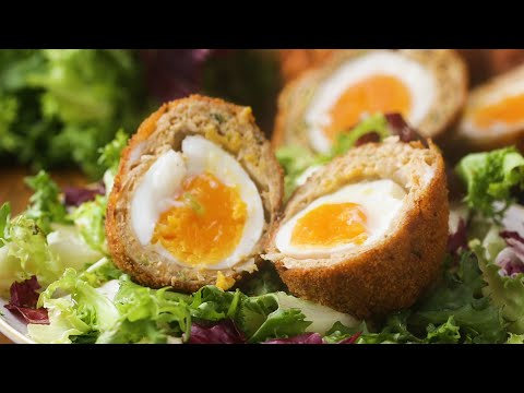 Download Youtube: Chicken Masala-Wrapped Soft-Boiled Eggs (Indian Scotch Egg)