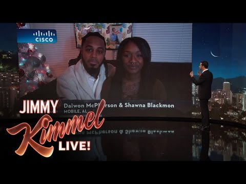 Jimmy Kimmel Interviews Couple Whose Engagement Went Viral