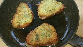 Горячие бутерброды на сковороде