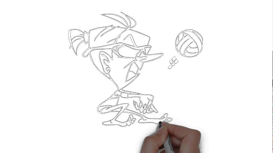 Cómo dibujar un jugador de voleibol - YouTube
