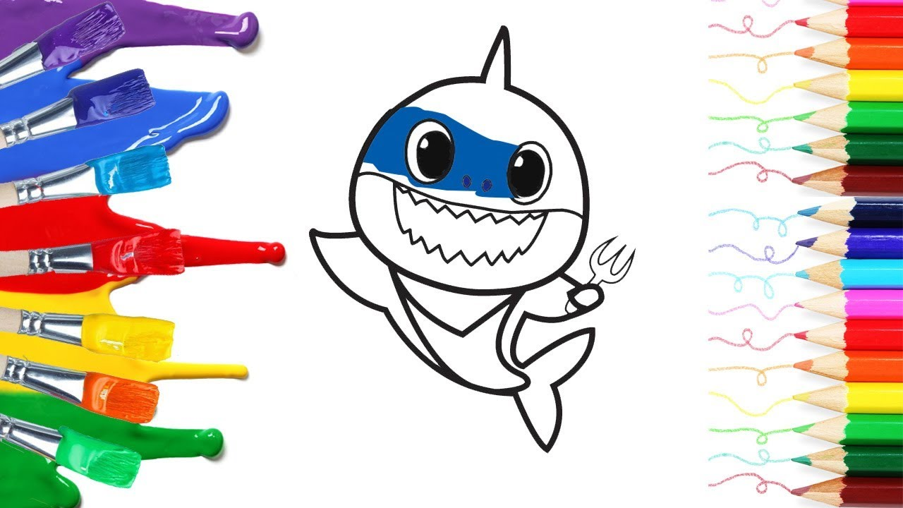 Santa Shark Coloring Pages - Super Simple | 720x1280