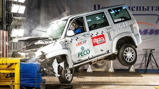 Краш-тест: УАЗ-Патриот. Три удара в одном ролике