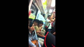 Drunk Indian Man at Yishun MRT Singapore