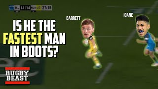 Is Beauden Barrett the fastest man in boots?