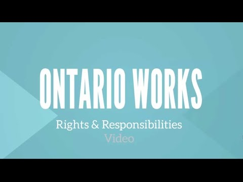 Ontario Works Rights And Responsibilities
