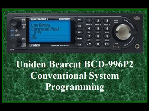 UNIDEN BCD996P2: Programming Conventional Systems