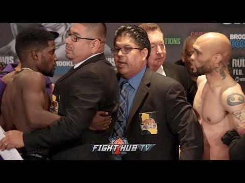 ERIKSON LUBIN AND ISHE SMITH GET INTO IT AS THEY HAVE A HEATED WEIGH IN & FACE OFF!