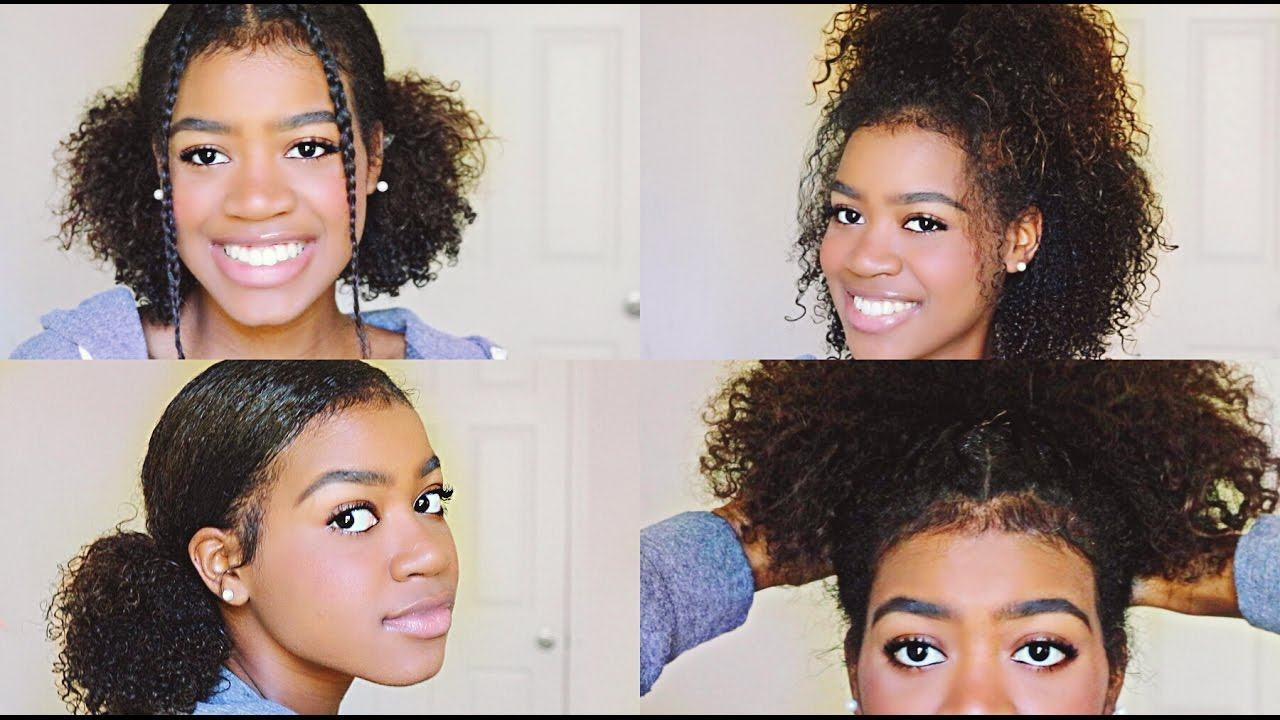 4 easy and cute hairstyles for medium length curly hair!